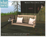 {what next) Blue Bramley Porch Swing (boxed)