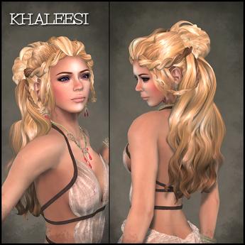 Khaleesi Hair *BLONDS* - OakLeaf Hair - rigged mesh