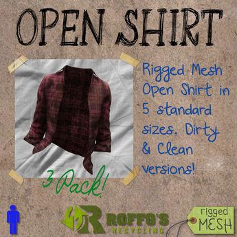 Open Shirt Plaid Pack