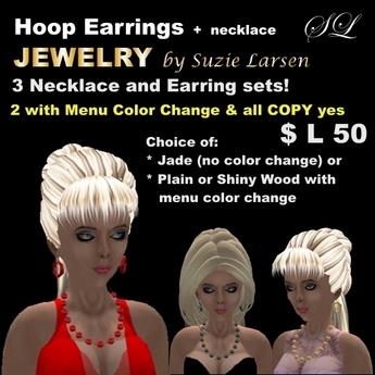 OnP Hoop Earring Necklace Sets