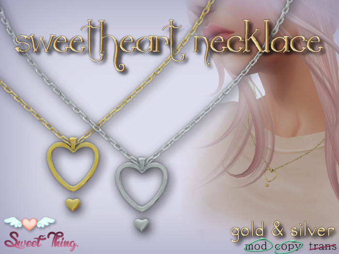 RETIRED: Sweetheart Pendant Necklace - Silver & Gold by Sweet Thing. <3 (Free gift)