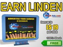 Magik Ads Big Adboard - Blue | Ganhe Lindens pagos por click!