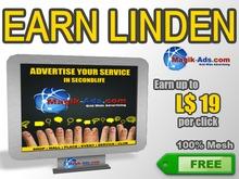 Magik Ads Big Adboard - Grey | Earn Lindens, paid per click!