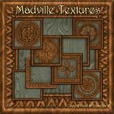 Madville Textures - Carved Ornamental Wood Frames, Green Teak