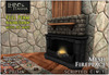 [L&T] - Mesh Fireplace (Full Perm, Scripted) Realistic 3D w/ AO maps   Builders Edition