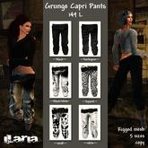 Grunge Capri Pants ~~black~~