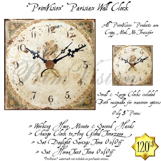 *PV* Parisian Wall Clock