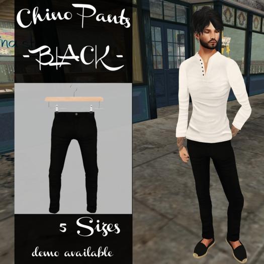 .:7th store:. Chino Pant - Black