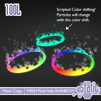 ::Static:: Pixel Halo - Rainbow Pack