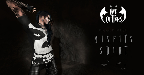 .:CAVE CRITTERS:. - Misfits T-shirt