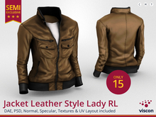 *viscon* Mesh Jacket Leather Style Lady RL *SEMI EXCLUSIVE*