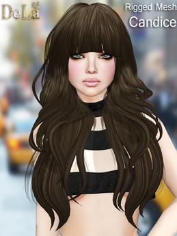 "=DeLa*= Mesh Hair ""Candice"" Demo"