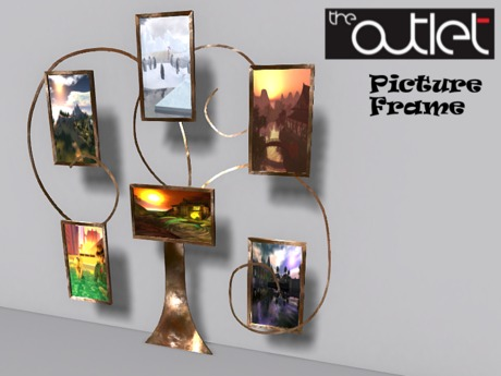 *-*Outlet*-* Upsi Gold Picture Frame