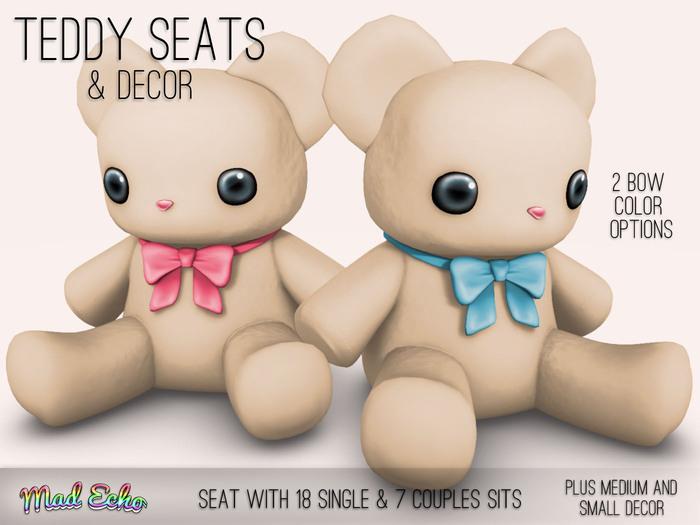 Mad Echo - Teddy Seat & Decor - Cream