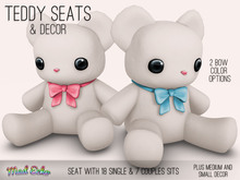 Mad Echo - Teddy Seat & Decor - White