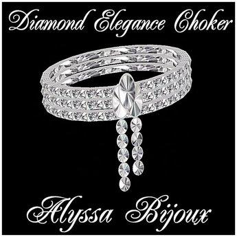 Alyssa Bijoux Jewelry - Diamond Elegance Choker  - Free Gift!