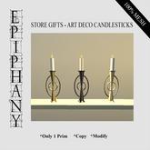 Store Gifts - Art Deco Candlesticks (1 Prim, 100% Mesh)