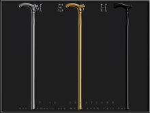 T-3D Creations [ CANE ] Gold,Silver,Black / MESH - Full Perm -