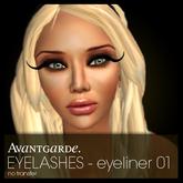Avantgarde. eyelashes - eyeliner 01