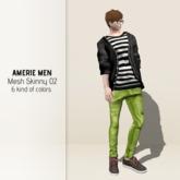 AMERIE M - Mesh skinny 02(Greentea)