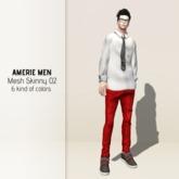 AMERIE M - Mesh skinny 02(Red)