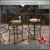 Trompe Loeil - Valiano Bistro Chairs Black [mesh]