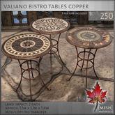 Trompe Loeil - Valiano Bistro Tables Copper [mesh]