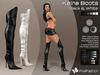 :)(: Kaina Boots Mesh - Black & White - Fitted Mesh  - Classic Avatars + Eve Avatars compatible