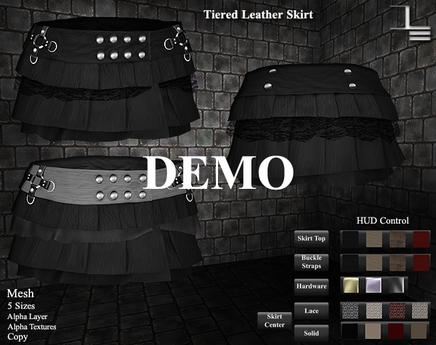 DE Designs - Tiered Leather Skirt - DEMO