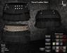DE Designs - Tiered Leather Skirt - Black
