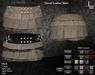 DE Designs - Tiered Leather Skirt - Tan