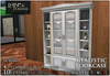 [L&T] - Realistic Bookcase w/ books & accessories (Open/close doors, 3d realistic details)
