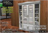 [L&T] - Realistic Bookcase (Full Perm, Scripted) Realistic 3D, w/ AO maps and ready textures | Builders Edition