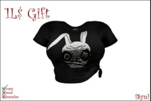 [Gift] Ladies Knotted T-shirt 'Evil Rabbit'
