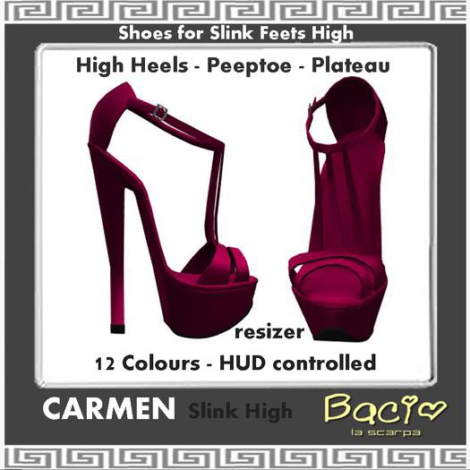 Bacio Mesh Slink  High CARMEN  Sandale PeeptoeBOX