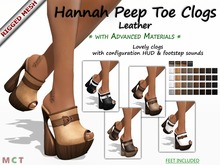 Gaeline Shoes - Hannah Peep Toe Clogs DEMO - Leather : just lovely as you !