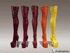 Vanina boots mesh red   yellow colors