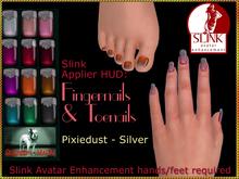 Bliensen + MaiTai - Slink Nail Applier HUD - nailpolish for toenails and fingernails - Pixiedust Silver