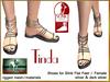 DEMO Bliensen + MaiTai - Tinda - Sandals for Slink - for women