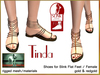 Bliensen + MaiTai - Tinda - Sandals for Slink - for women - Gold