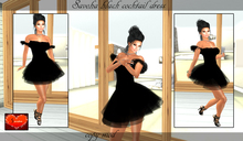 savoha black cocktail dress