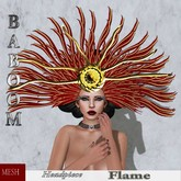 Baboom-Flame-gown-headpiece-red