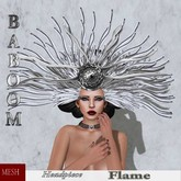 Baboom-Flame-gown-headpiece-white