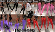 KinkyOne's Tight Pants with Open Zipper  ***FATPACK***
