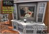 [L&T] - Victorian Display Cabinet (Full Perm, Scripted) Realistic 3D w/ AO Maps And Textures | Builders Edition