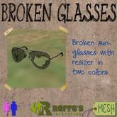 Broken Aviator Sunglasses