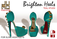 .:JUMO:. Brighton Teal Heels Studs