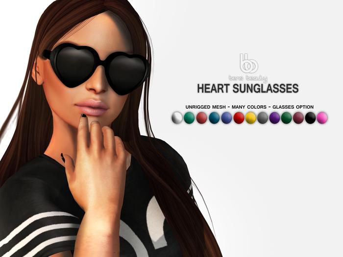 Bens Beauty - Heart Sunglasses Fatpack