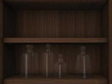 Dutchie 4 mesh glass decanters
