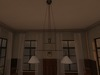 Dutchie mesh antique double ceiling lamp for above a dining table or biljart table